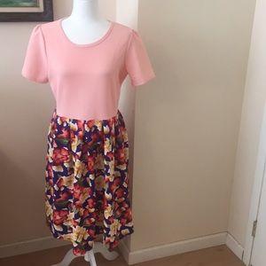 XL LuLaRoe Amelia Dress D06 786